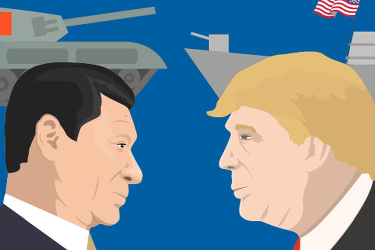 Xi Jinping und Donald Trump Grafik: Shutterstock, vector_brothers